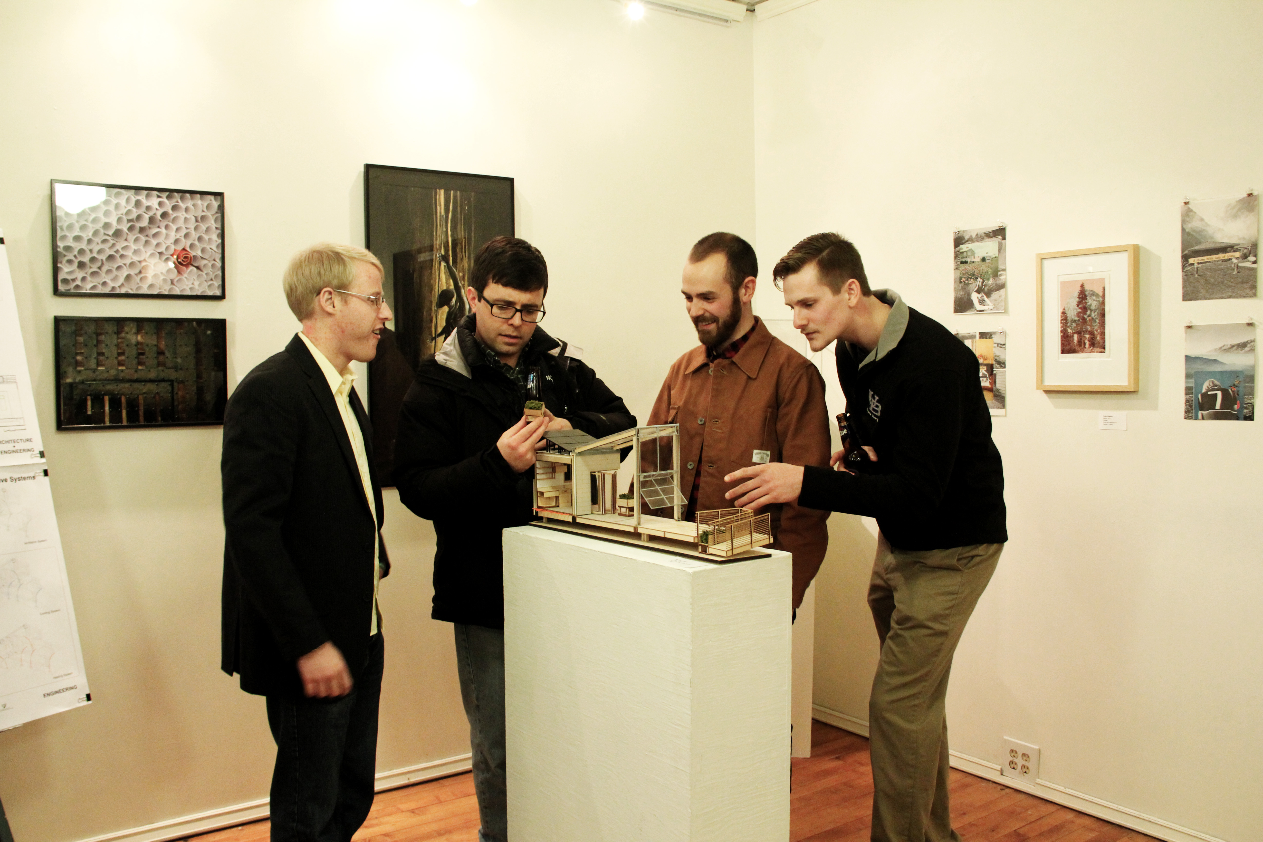 architectural project manager duane warren second from right was happy to discuss about