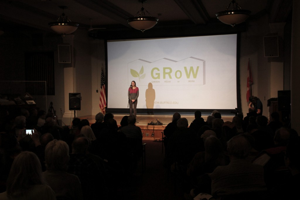Amanda Mumford presents GRoW Home to the audience in attendance.