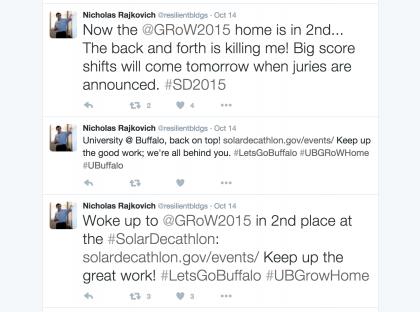 Screenshot of Nick's tweets